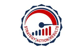 Speed Strategy Action Result. Logo Design Template Vector Stock Photos