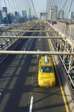 Speed taxi. Taxi in Brooklyn Bridge in New York city Stock Photography