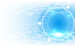 Speed tech innovation concept blue  background. Eps 10 vector Royalty Free Illustration