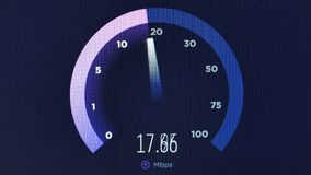 Speed test download upload network measurement animation footage 4k