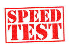 SPEED TEST Stock Image