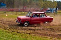 Speed test ZAZ Zaporozhets Royalty Free Stock Photos