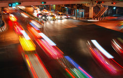 speed traffic car light trail Stock Photography