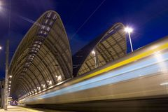 Speed train stock photography