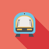 Speed train flat icon with long shadow. Cartoon vector illustration vector illustration