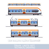 Speed Train Illustration Stock Image