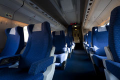 Speed train interior Stock Images