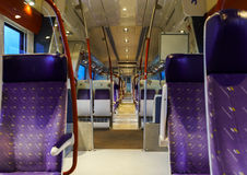 Speed train interior, travel concept Stock Photos
