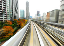 Speed train moving Royalty Free Stock Photography