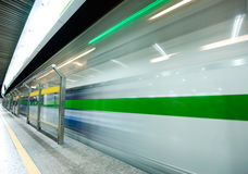 Speed train subway Stock Photography