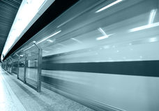 Speed train subway Royalty Free Stock Images