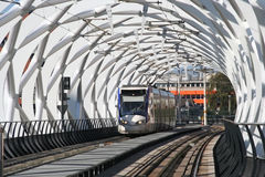 Speed Tram in Tunnel Stock Image