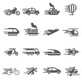 Speed Transport icon set. /16 vector for design Stock Image