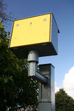 Speed Trap. UK roadside speed enforcement camera viewed from the rear Royalty Free Stock Photo