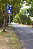 Speed trap camera sign Stock Photos