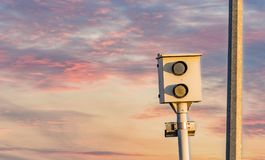 Speed trap camera. For traffic control Stock Image