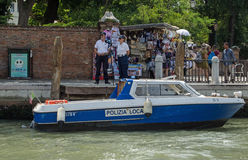 Speed trap, Grand Canal, Venice Stock Photos