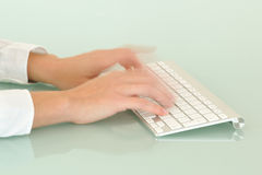 Speed typing Stock Image