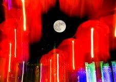 Speed of umberlls neon light Royalty Free Stock Photos