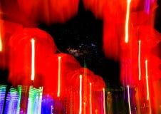 Speed of umbrellas neon light Royalty Free Stock Photos