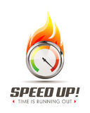 Speed up - business acceleration concept Royalty Free Stock Image