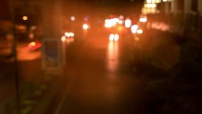 Speed up Timelapse. Night traffic on the road. stock footage
