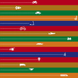 Speed (vector). Stripped vector illustration of transport history Royalty Free Stock Photography