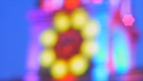 Speed video of colourful lighting on top of church stock video