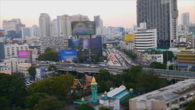 Speed video of traffic on road in Bangkok stock footage