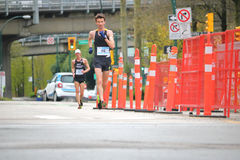 Speed Walker Benjamin Thorne on His Way to Winning in 2017 Vancouver Sun Run Stock Images