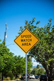 Speed watch area Stock Photo