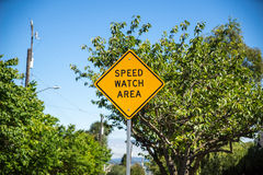 Speed watch area Royalty Free Stock Photo