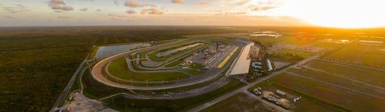 Speed-way aérien de Ferme-Miami de photo de bourdon photos libres de droits