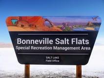 Speed-way international d'appartements de sel de Bonneville, Utah photos libres de droits