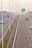 Speed-way S17 près à Lublin, Pologne Photos stock