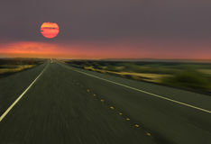 speed way in sun set  Royalty Free Stock Photo