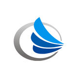 Speed wing fly logo Stock Photos