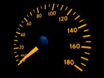 Speed at zero. Speedometer in the car Stock Photos