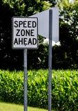 Speed Zone Royalty Free Stock Photo