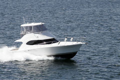 Speedboat. Cruising The Sea With High Speed Royalty Free Stock Photography