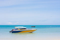Speedboat. For look around the sea view Stock Photo
