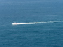 Speedboat. In Clear sea and  bluesky in phuket, andaman sea Royalty Free Stock Images