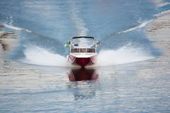 Speedboat. A luxury speedboat powering through the water Royalty Free Stock Photography