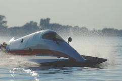 Speedboat. After the corner during the world and european championchips in germany in twilight Stock Images