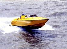 Speedboat. A pleasure speedboat on the sea at Bridlington, North Yorkshire, England, UK Royalty Free Stock Image
