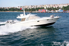 Speedboat. Cruising the sea with high speed Royalty Free Stock Photo