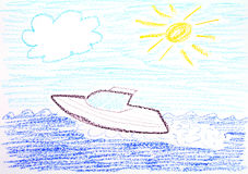 speedboat royaltyfri illustrationer