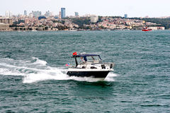 Speedboat. A speedboat coming from European side of Istanbul Stock Image