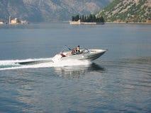 Speedboat. Speed boat in Boka Kotorska bay, Montenegro Stock Images