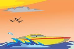 speedboat Libre Illustration